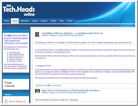 AuTechHeads in blogging showcase gallery