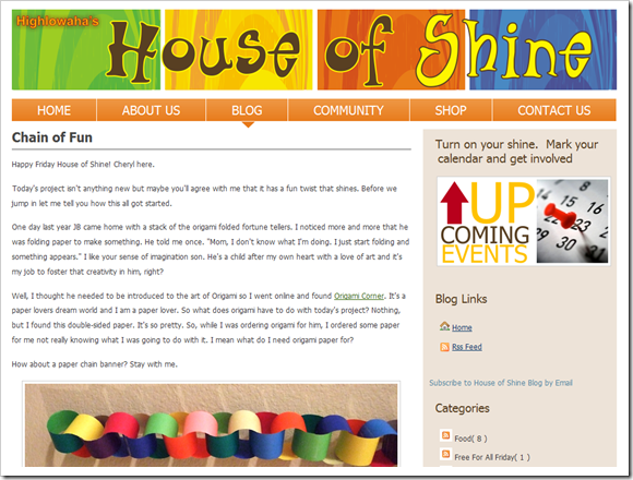 House of Shine Blog