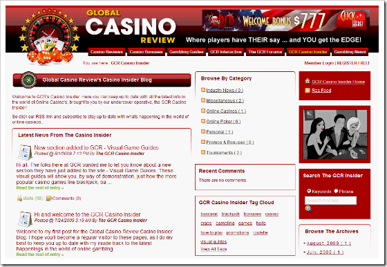 CasinoInsiderBlog in SunBlogNuke Showcase Gallery